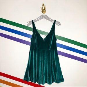 NEW Kimchi Blue emerald velvet dress